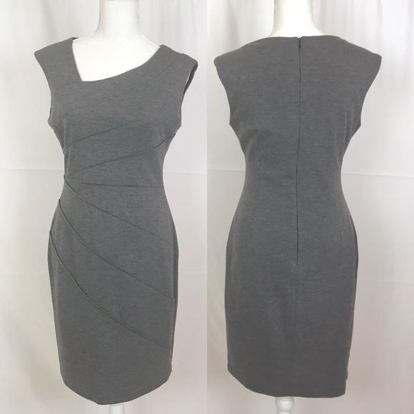 London Times Dresses & Skirts - LONDON TIME Gray Sheath Sleeveless Dress-Size 8